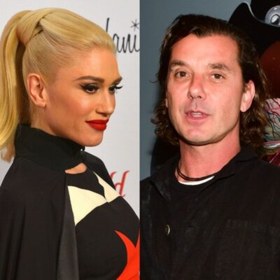 side by side close ups of Gwen Stefani and Gavin Rossdale