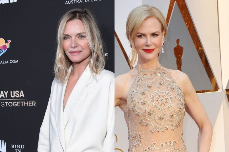 side by side photos of Michelle Pfeiffer and Nicole Kidman