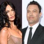side by side images of Megan Fox and Brian Austin Green