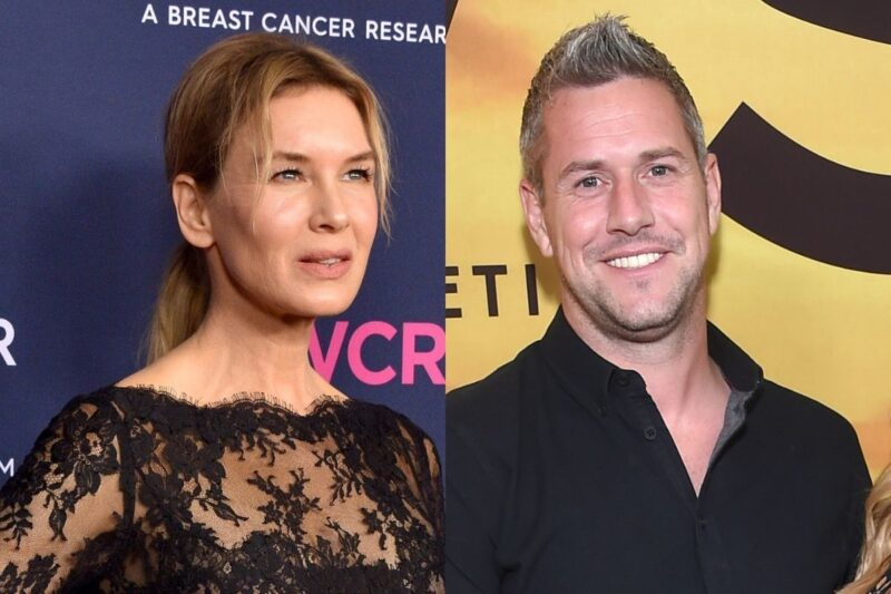 side by side photos of Renee Zellweger and Ant Anstead
