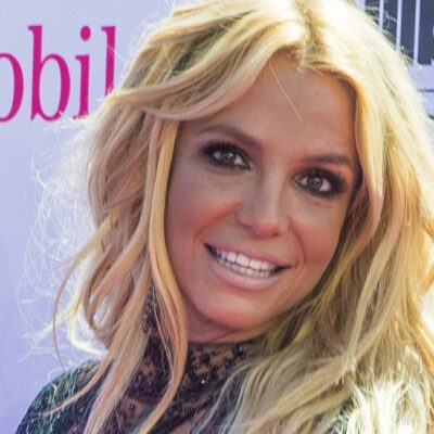 Britney Spears wears a black dress on the red carpet