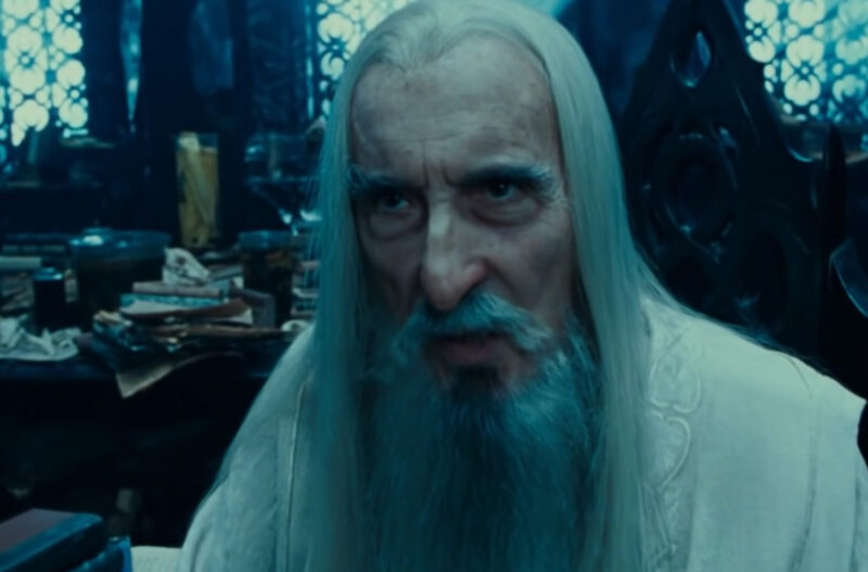 Christopher Lee Saruman in Lord Of The Rings