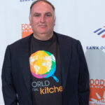 Jose Andres wearing a World Food Kitchen