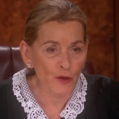 Screenshot of Judge Judy on her original show.