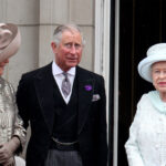 From left to right, Camilla Parker Bowls, Prince Charles, Queen Elizabeth, on the balcony of Buckingham Palace
