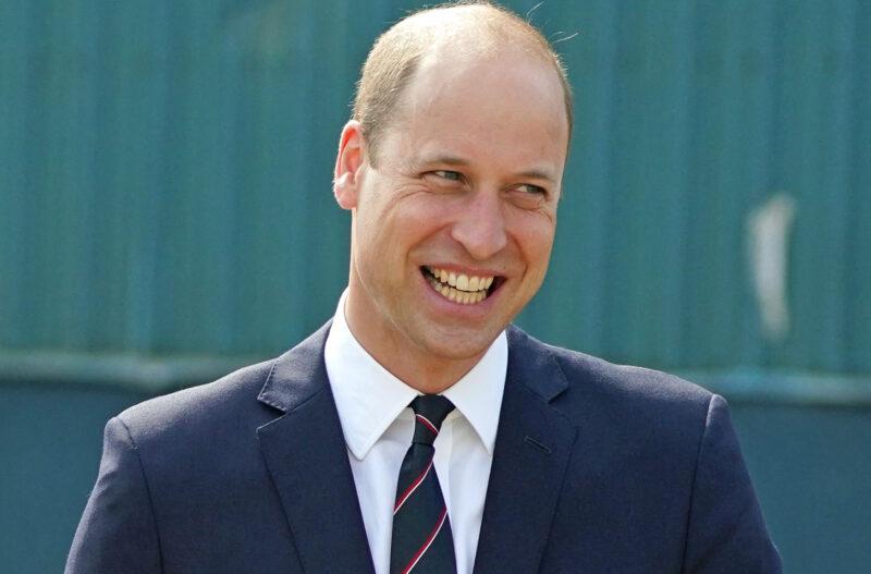 Prince William smiling awkwardly