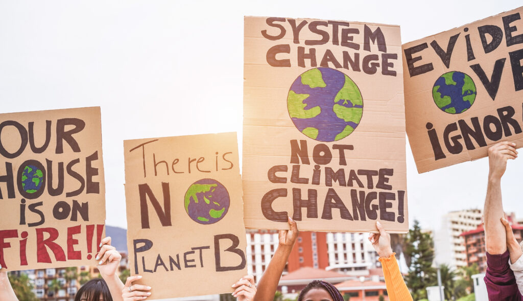 Image of climate change strikers