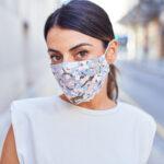 Image of woman wearing facemark