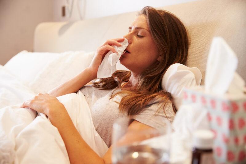 Image of sick woman