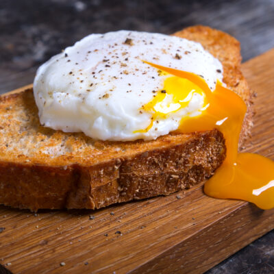 Image of poached eggs