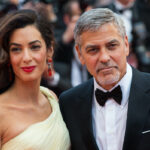 George and Amal Clooney at a red carpet premiere