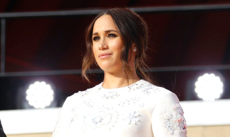 Meghan Markle in a white dress