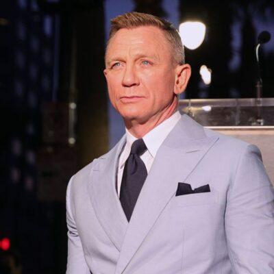 Daniel Craig in a grey suit