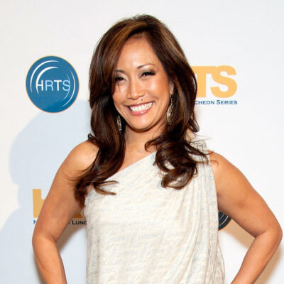 Carrie Ann Inaba in a white dress