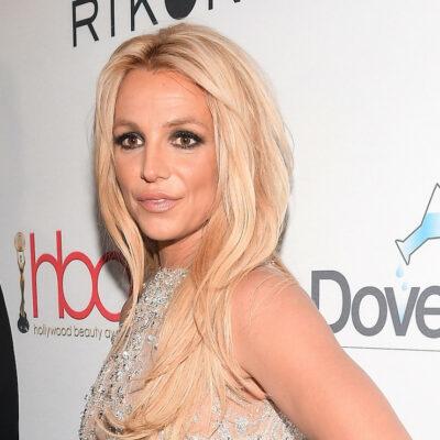 Britney Spears in a silver dress