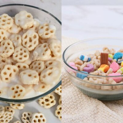 Cereal candles