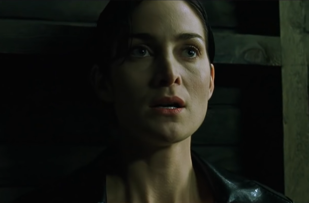 Actor Carrie-Anne Moss playing Trinity in 'The Matrix'