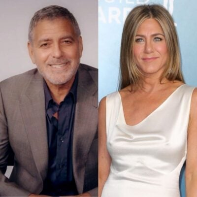 side by side photos of George Clooney and Jennifer Aniston