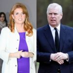 side by side photos of Prince Andrew and Sarah Ferguson