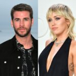 side by side photos of Liam Hemsworth and Miley Cyrus