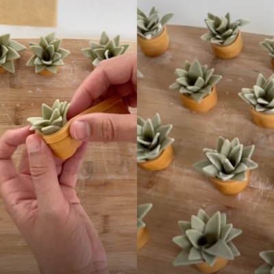 Side by side images of @dannylovespasta making his succulent ravioli and this finished product.
