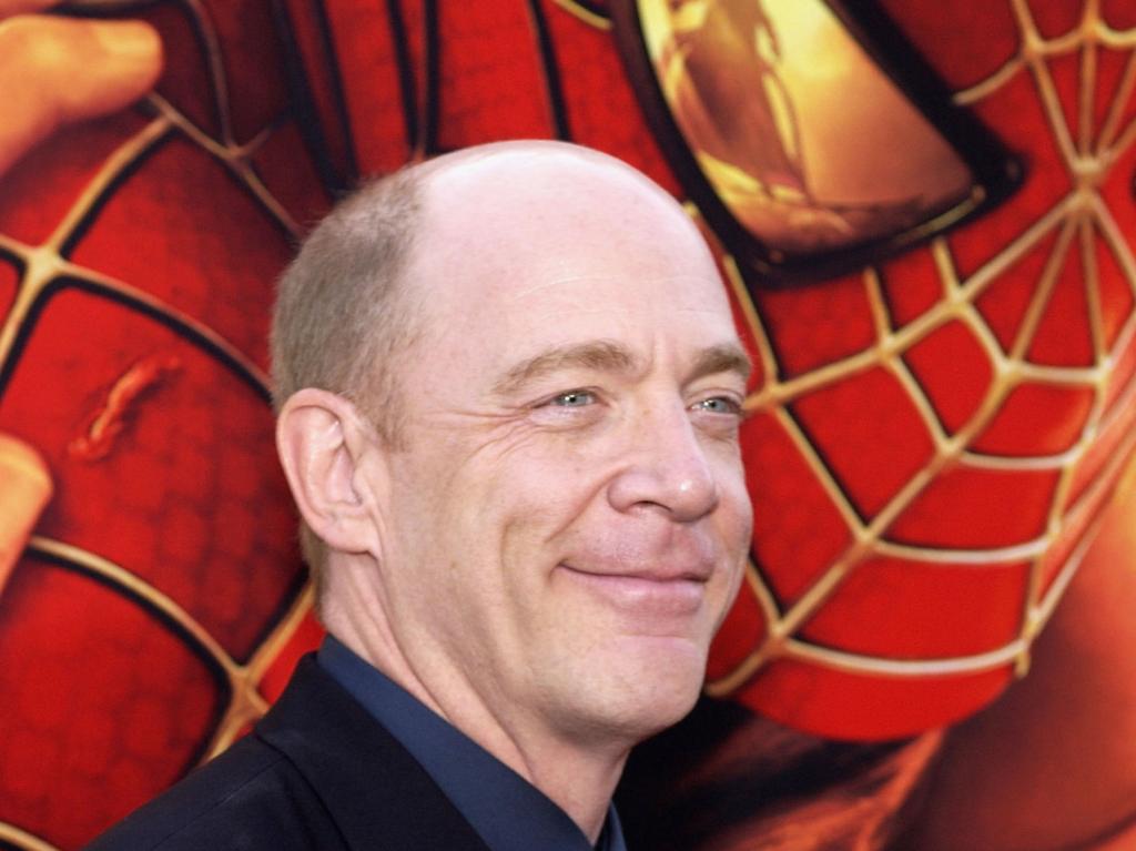 J.K. Simmons smiles at the Spider-man red carpet premier