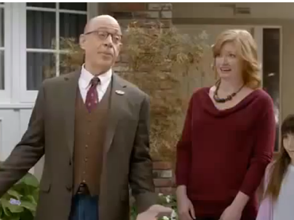 J.K. Simmons acting in a Farmers Insurance commercial