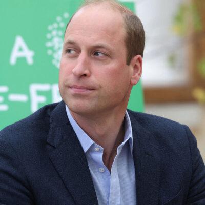 Prince William looking upset.