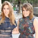 Princess Beatrice and Eugenie pose for photos together outdoors