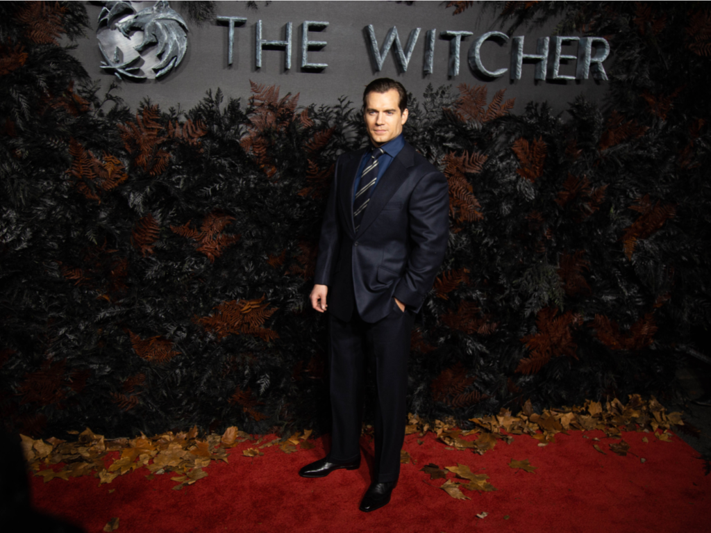 Henry Cavill on The Witcher Red Carpet