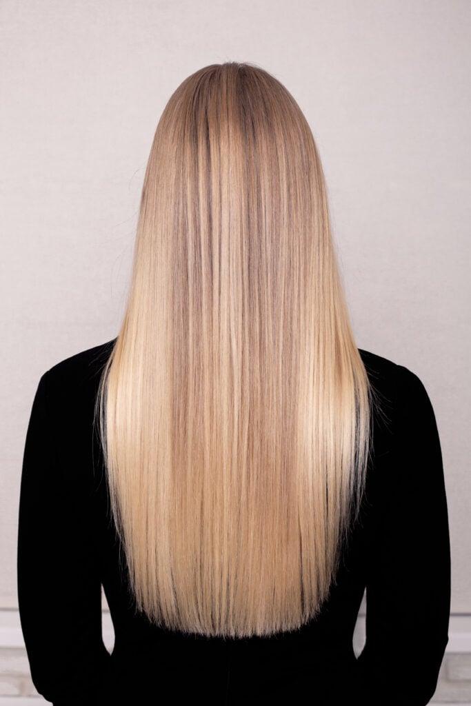 Image of long, blunt hair